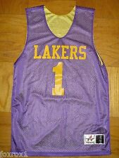 Los Angeles Lakers Basketball Jersey #1 Purple Gold Size Adult Small S Alleson