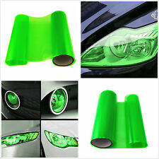 Auto SUV Headlight Gloss Green Vinyl Wrap Film Sheet Decal Sticker 100cm x 30cm