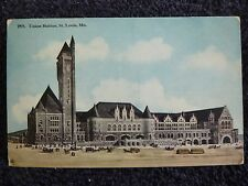 Early 1900's The Union Railroad Station in St. Louis, Mo Missouri PC