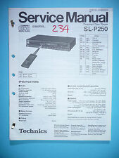 Service-Manual für Technics SL-P250  ,ORIGINAL
