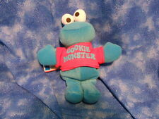 """Sesame Street COOKIE MONSTER  8"""" Beanbag Plush Toy by Tyco"""