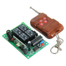 4 channel wireless relay remote control switch Smart RF Receiver & Transmitter