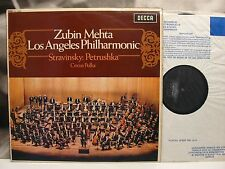 STRAVINSKY - PETRUSHKA - ZUBIN MEHTA LP VG+/VG+ DECCA UK SXL 6324 EARLY REISSUE