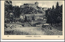 Lourdes France Frankreich CPA AK ca. 1920 Chateau Fort Partie an der Burg Brücke