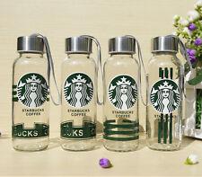 New 300ML Starbucks pattern Water Bottle Coffee Mug Outdoor Glass Drinking Cup