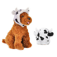 Cute Small Pet Dog Cat Milk Cow Hat Puppy Dog Party Costume Hat Winter Warm Gift