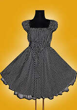 Gr 48 50 52 Damen ROCKABILLY 50er Petticoat Pin Up Abend Party Vintage KLEID