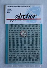 Archer 1/35 German WWII Vehicle Letters and Numbers Small (Black) AR35061B