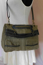 Mossimo Olive Green Denim Shoulder Bag, Handbag