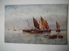 Sailing Boats 1920s Old Postcard C W Faulkner Series