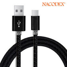 Nacodex USB 3.1 Braided Type-C Cable Data Charging USB-C to USB-A 3FT(1m) -Black