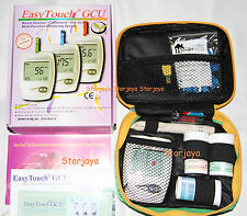 1x Easy Touch Blood Glucose Cholesterol Uric Acid 3 in 1 Meter +free 100 Lancet