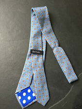 PAUL SMITH Silk TIE - Circle  Pattern with blue polka lining -  9cm Blade