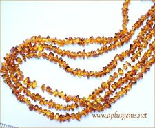 "Beautiful 16"" long Amber Chip Beads 5mm"