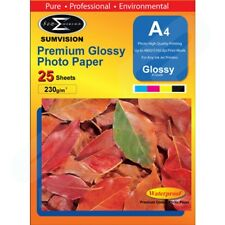 A4 Premium Glossy Sumvision Inkjet Deskjet Photo Paper 230gsm 100 sheets 4 Packs