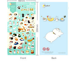 1 sheet Japanese ニャンコ先生 Nyanko-sensei Teacher Cat Diary filofax planner Sticker