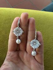Orecchini in argento 925 Cammeo sardonico zirconi perla made in Italy