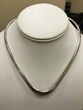 925 Sterling Silver Gary G Collar Necklace Wishbone Navajo