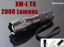 Military Grade Tactical Flashlight LED 2000 Lumens Waterproof Torch Light Lamp
