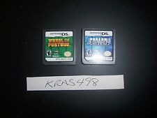 Wheel of Fortune and Jeopardy both for Nintendo DS DSi - Tested - Great Gift