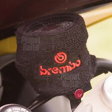 Large Black/Red Brembo Brake Clutch Reservoir Sock Cover Motorcycle Bike Sweat