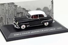 Simca COACH ARONDE GRAND LARGE année modèle 1955 Noir 1:43 ALTAYA