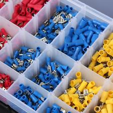 900 PCS ASSORTED INSULATED ELECTRICAL WIRE TERMINALS CRIMP CONNECTORS SPADE SET