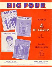 BIG FOUR - BIG FOUR HIT PARADE 60'S VINTAGE SHEET MUSIC BOOK AUSTRALIA
