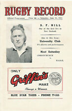 Linwood, Technical Old Boys, Marist 18 Jun 1955 Canterbury NZ Rugby Programme