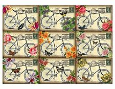 Antique Bicycle  ~ Glossy Card Making Toppers / Scrapbooking / Crafting