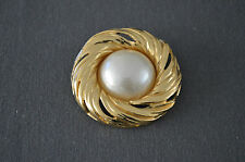 BROCHE YVES ST LAURENT / VINTAGE/BROCHE DORE/OCCASION