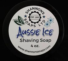 Shannon's Soap Shaving Soap: Aussie Ice. Tallow/Lanolin/Essential Oil 4 ounce.