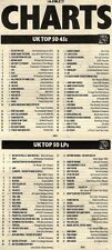 16/10/93PGN52 NME CHARTS PAGE : TAKE THAT & LULU RELIGHT MY FIRE NO.1
