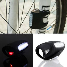 Black wholesale high quality 4 colors bike bicycle 7 LED silicon Safety light