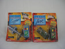 Arco Die Cast remote controlled Chopper and Tank Vehicles