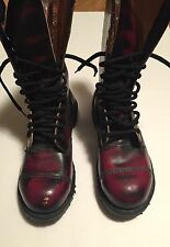 rare dr marten GETTA GRIP made in England Leather hightop combat boots sz 4 Vtg