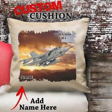 Personalizado RAF Tornado avión Papá Abuelo Regalo Cojín Cubierta Con Insert