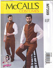 Mens YaYa Hans Victorian Vests Pants Cosplay McCalls Sewing Pattern 38 40 42 44