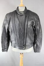 Akito rapide negro cuero Biker Jacket de Superdry con parte posterior extraíble Protector, Talla 16
