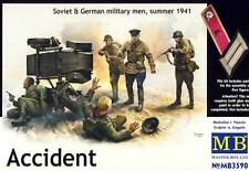 MB MASTERBOX-accident Soviet & German Military Men accidente 1:35 modelo-Kit