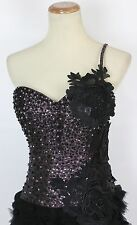 New Black Jovani Formal Cruise Cocktail $350 Dress Size 2 Bubble Short Evening