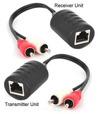 Stereo Audio Balun Extender Over Cat5 Cat5E Cat6 Cable