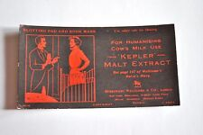 "Vintage ""Rare""  Advertising Blotters and Bookmarks - Kepler Malt Extract"