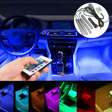 4 X Multi Colour RGB Car Interior Floor Light Strip Under Dash Hilux Falcon Audi