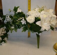 BEAUTIFUL BRIDAL BOUQUET , ROSE / LILLY ,WEDDING FLOWERS , FREE SHIPPING !!!!