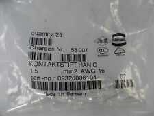 25x Harting HAN C Kontaktstift 1,5 09320006104 mm2 AWG 16 Neu OVP