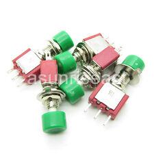 50PCS Mini Momentary Green Knob Push Button Switch SPDT NO-COM-NC Wholesale