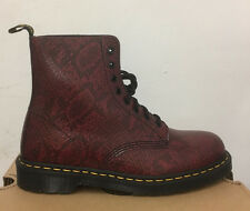 DR. MARTENS PASCAL WINE VIPER LEATHER  BOOTS SIZE UK 3