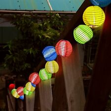 10 LED Solar Powered Chinese Outdoor Fairy Lanterns