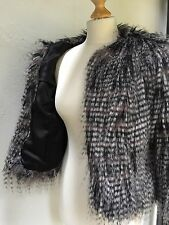 FAUX FUR JACKET ROCK-CHICK CHIC BRAND NEW